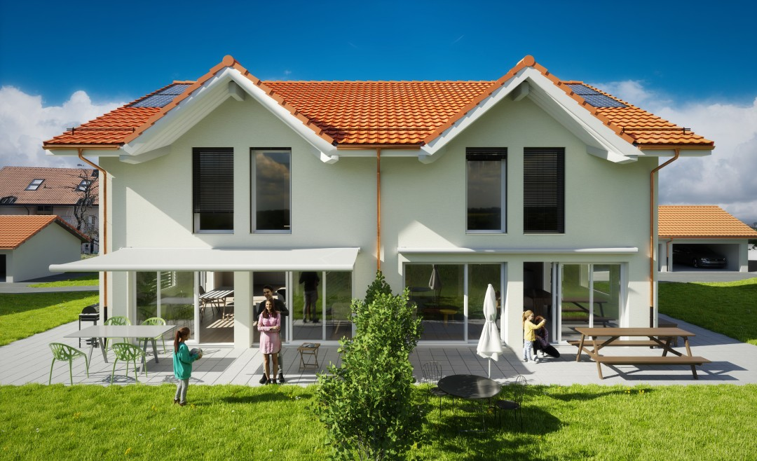 A vendre sur plan: six jolies villas mitoyennes - 1