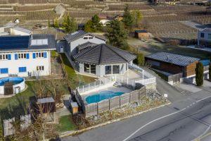 Superbe villa individuelle avec piscine et vue sur les Alpes